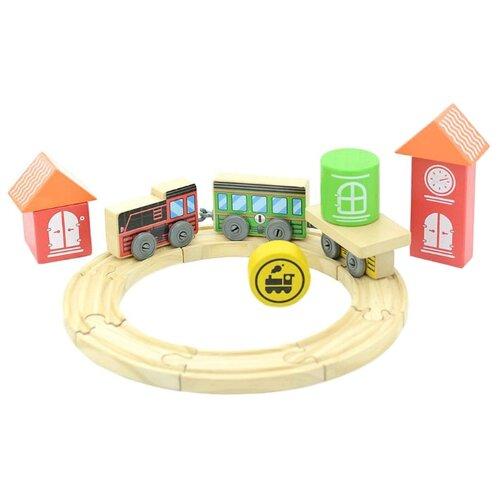 Купить Мир деревянных игрушек Стартовый набор Трасса , Д406, Наборы, локомотивы, вагоны