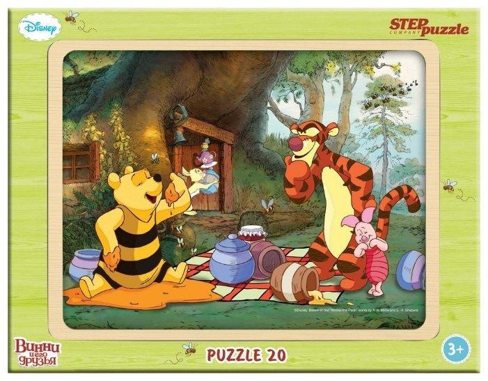 Рамка-вкладыш Step puzzle Disney Медвежонок Винни (89124), 20 дет.
