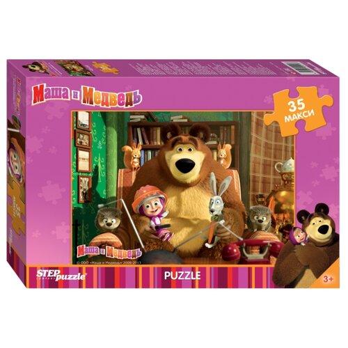 Купить Пазл Step puzzle Анимаккорд Маша и Медведь (91211), 35 дет., Пазлы