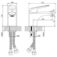Однорычажный смеситель для раковины (умывальника) IDDIS Male MALSB00i01