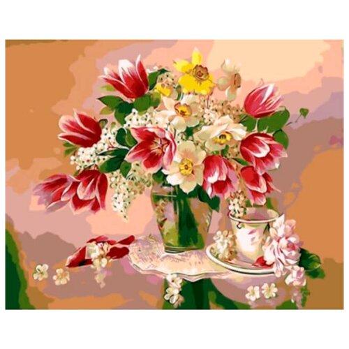 Цветной Картина по номерам Весенний натюрморт 40х50 см (GX8837)Картины по номерам и контурам<br>