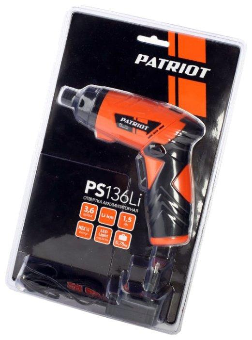 Аккумуляторная отвертка PATRIOT PS 136Li