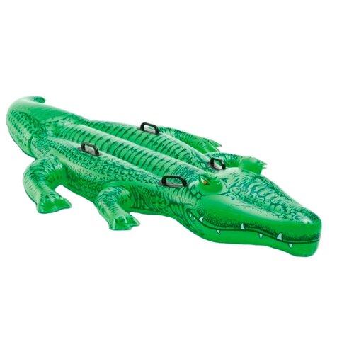 Купить Надувная игрушка-наездник Intex Крокодил 58562 зеленый, Надувные игрушки