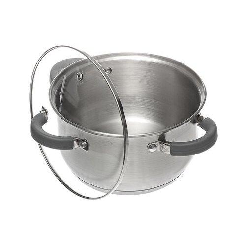 Кастрюля Vetta Vienna 822-064 3,6 л, стальной/серый кастрюля vetta повар 3 6 л белый красный