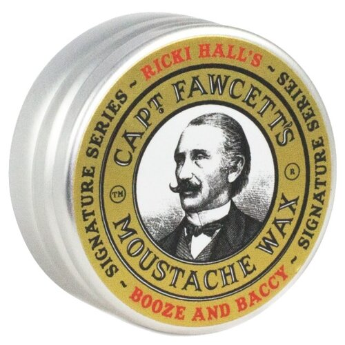 Captain Fawcett Воск для усов Ricki Hall Booze & Baccy Moustache Wax, 15 мл