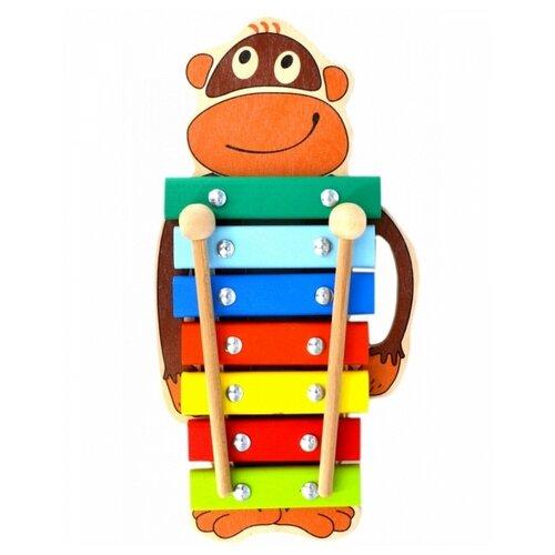Купить Alatoys ксилофон Обезьянка КС0703 разноцветный, Детские музыкальные инструменты