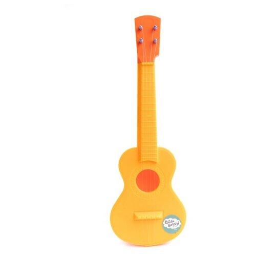 Пластмастер гитара Звонкая струна 22032 желтый/оранжевыйДетские музыкальные инструменты<br>