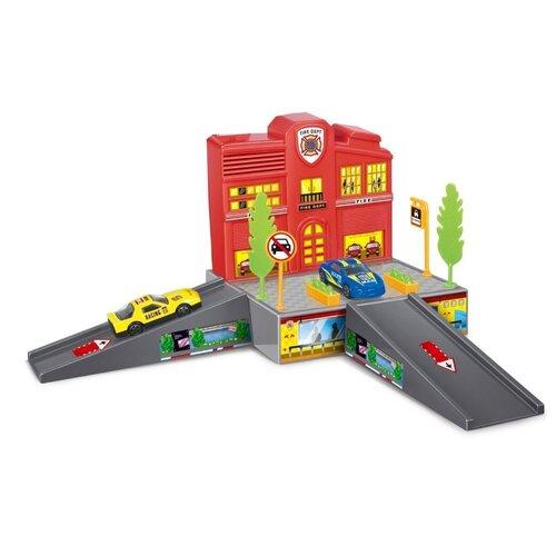 Dave Toy Игровой набор Пожарная станция 32018 красный/серый недорого