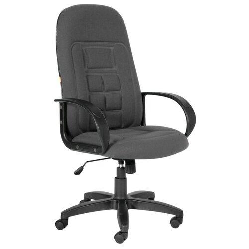 Компьютерное кресло Chairman 727 для руководителя, обивка: текстиль, цвет: 10-128 серый компьютерное кресло chairman 434n для руководителя обивка текстиль цвет вельвет черный