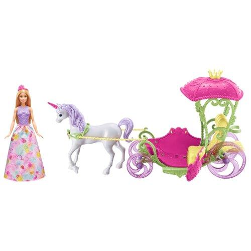 Купить Набор Barbie Конфетная карета и кукла, 29 см, DYX31, Куклы и пупсы