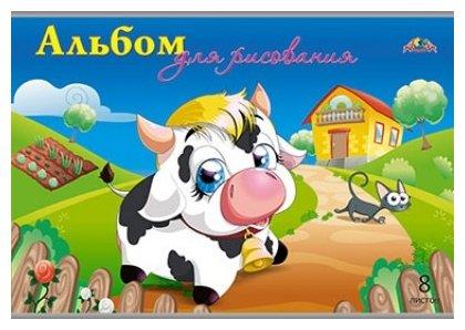 Альбом для рисования Апплика Коровка и кот 29.7 х 21 см (A4), 110 г/м², 8 л.