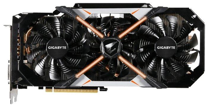 GIGABYTE GeForce GTX 1080 1733Mhz PCI-E 3.0 8192Mb 11010Mhz 256 bit DVI 3xHDMI HDCP AORUS