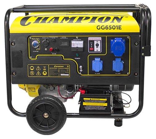 Бензиновый генератор CHAMPION GG6501E+ATS 5 кВт