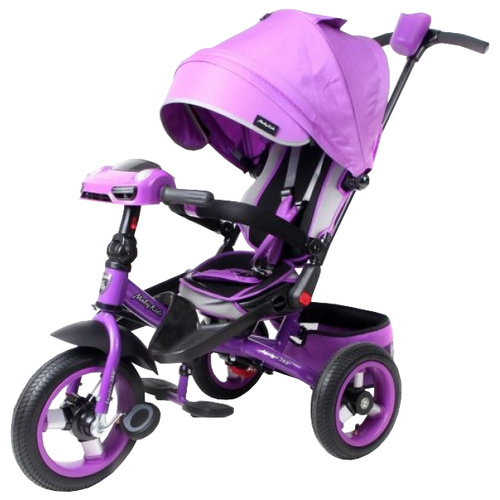 Трехколесный велосипед Moby Kids Leader 360° 12x10 AIR Car фиолетовыйТрехколесные велосипеды<br>