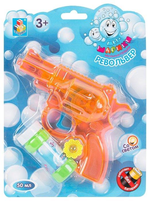 Револьвер с мыльными пузырями 1 TOY Мы-шарики! 50 мл Т58740