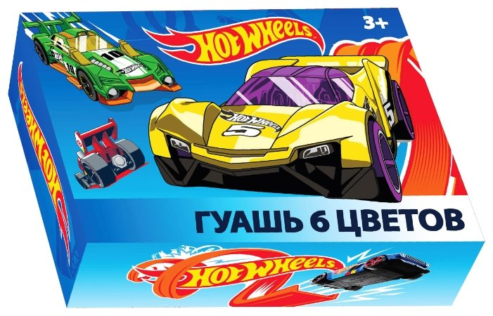 CENTRUM Гуашь Hot Wheels 6 цветов х 20 мл (88763)