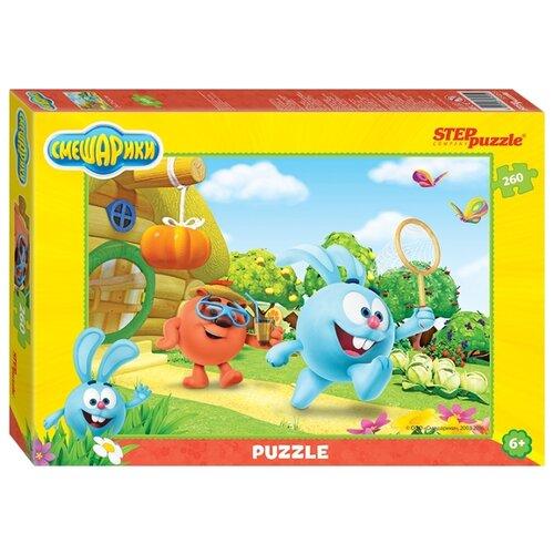цена Пазл Step puzzle Крош, Копатыч и бабочки, Смешарики (95055), 260 дет. онлайн в 2017 году