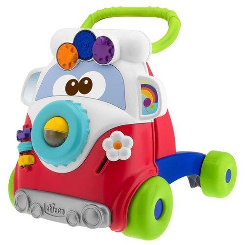 Купить Каталка-ходунки Chicco Happy Hippy Walker (59051) со звуковыми эффектами белый/красный/зеленый/синий, Каталки и качалки
