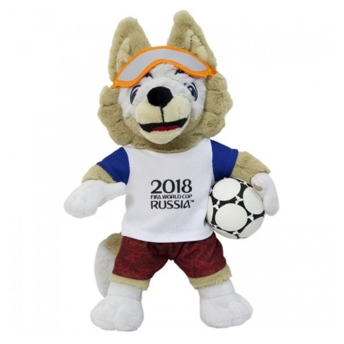 цена на Мягкая игрушка 1 TOY FIFA-2018 Волк Забивака 21 см