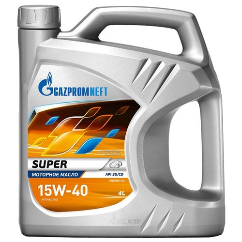 Фото - Минеральное моторное масло Газпромнефть Super 15W-40 4 л минеральное моторное масло mannol universal 15w 40 4 л