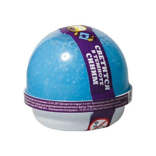 Жвачка для рук NanoGum светится в темноте, синий, 25 гр (NGBG25)