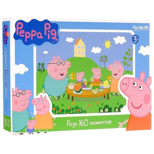 Купить Пазл Origami Peppa Pig Завтрак на природе (01542), 160 дет., Пазлы