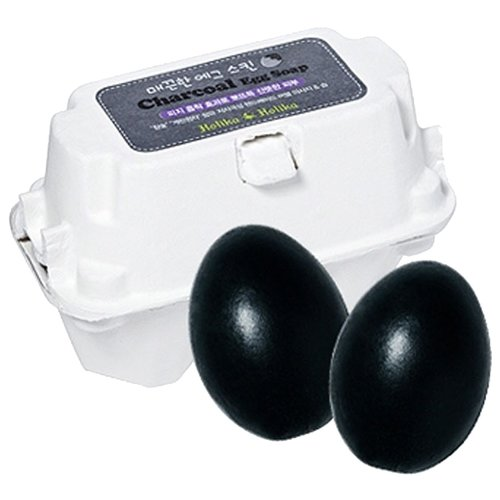 Holika Holika мыло-маска Egg Soap с древесным углем, 50 г, 2 шт.