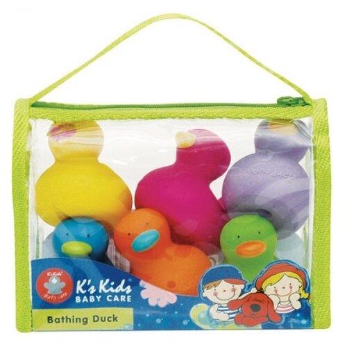 Купить Набор для ванной K's Kids Утята (KBA16212) желтый/розовый/зеленый/голубой, Игрушки для ванной