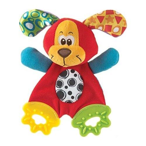 Купить Прорезыватель Playgro Pookie Puppy Teething Blankie красный/зеленый/желтый, Погремушки и прорезыватели