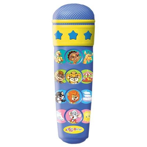 Купить Азбукварик микрофон Караоке Чунга-чанга 12 песен синий, Детские музыкальные инструменты