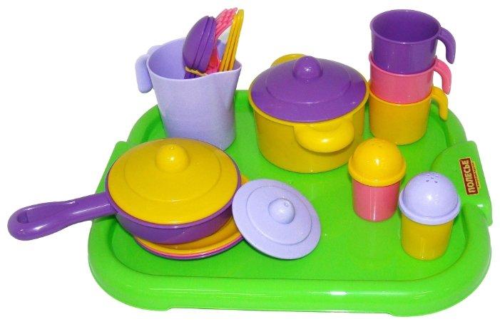 """Набор посуды Полесье """"Настенька"""" с подносом на 3 персоны 3957"""