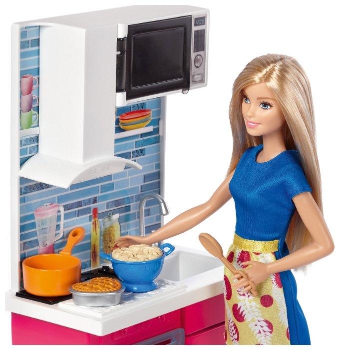 купить набор Barbie роскошная кухня 28 см Dvx54 по выгодной цене