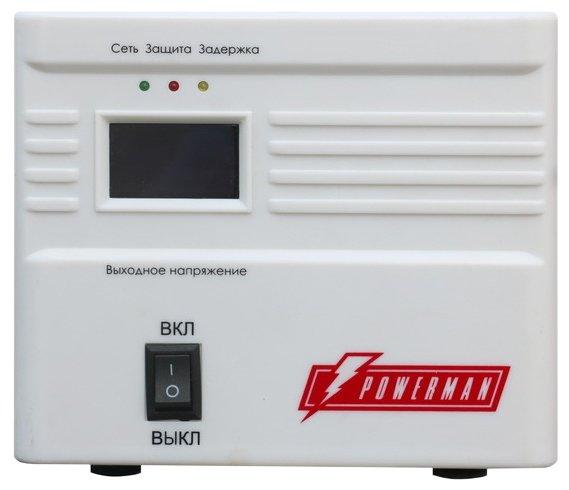 Стабилизатор напряжения однофазный Powerman AVS 1000A (0.55 кВт)