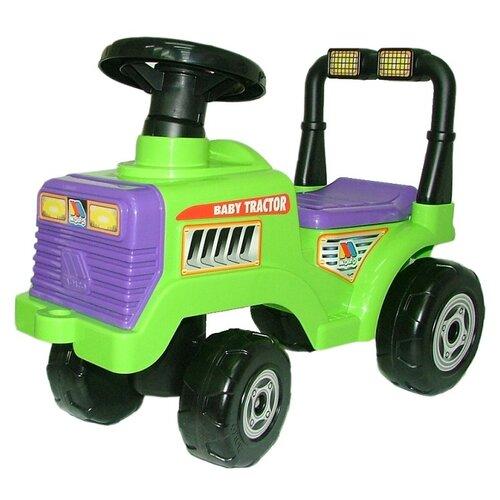 Купить Каталка-толокар Molto Трактор Митя (7956) со звуковыми эффектами зеленый, Каталки и качалки