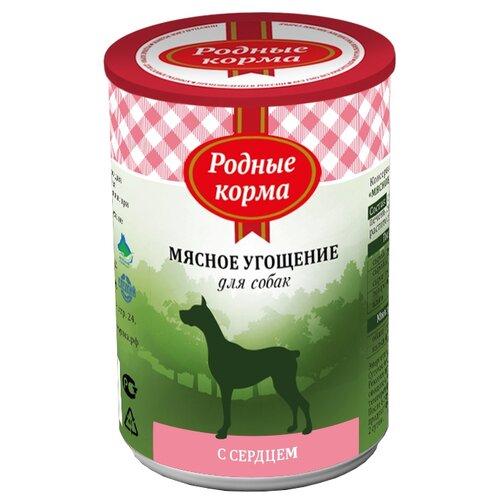 Влажный корм для собак Родные корма беззерновой, сердце 340 г