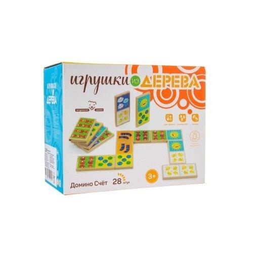 цена на Настольная игра Мир деревянных игрушек Домино Счет Д395