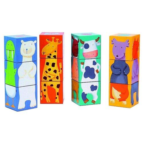 Купить Кубики-пазлы DJECO Животные, Детские кубики
