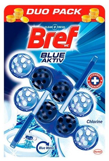 Bref туалетный блок Blue Aktiv с хлор-компонентом 2 шт.