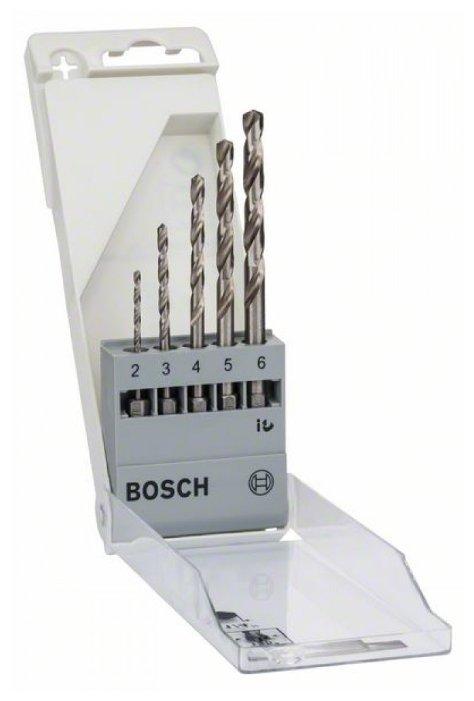 Набор из 5 свёрл по металлу Bosch с шестигранным хвостовиком 1/4