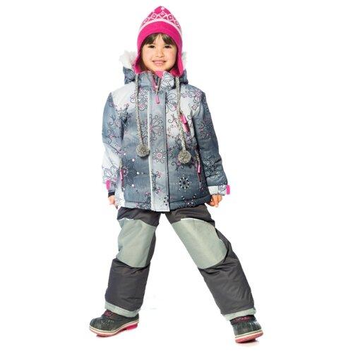 Комплект с полукомбинезоном Deux Par Deux C801 W18 размер 7 лет, 978 серый/розовыйКомплекты верхней одежды<br>