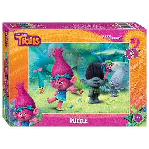 Фото - Пазл Step puzzle DreamWorks Trolls (81148), 60 дет. пазл step puzzle dreamworks trolls 94056 160 дет