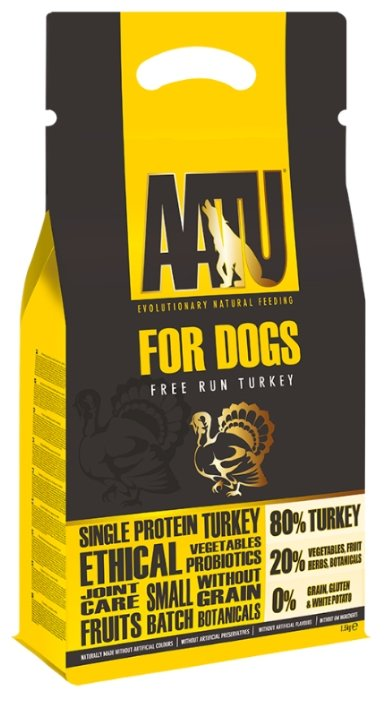 Корм для собак AATU For Dogs Free Run Turkey