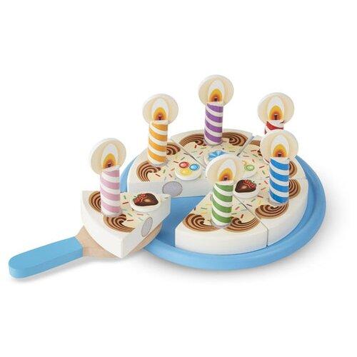 Купить Набор продуктов с посудой Melissa & Doug Birthday Party 511, Игрушечная еда и посуда