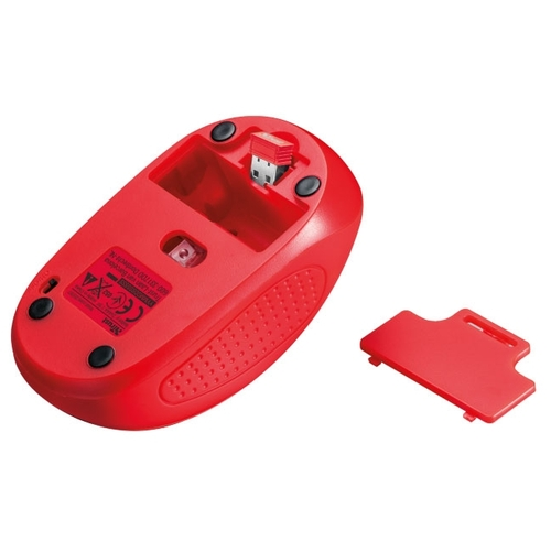 Мышь Trust Primo Wireless Mouse Red USB