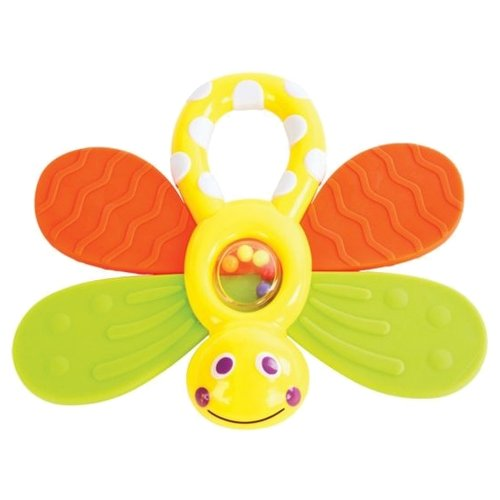 Купить Прорезыватель-погремушка Жирафики Стрекоза зеленый/желтый/оранжевый, Погремушки и прорезыватели