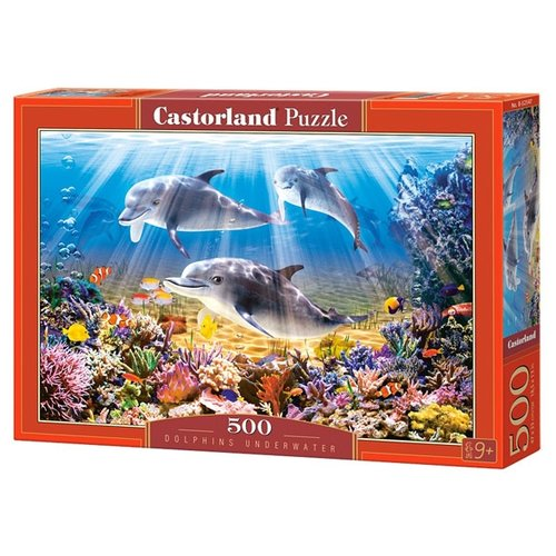 Купить Пазл Castorland Dolphins Underwater (B-52547), 500 дет., Пазлы