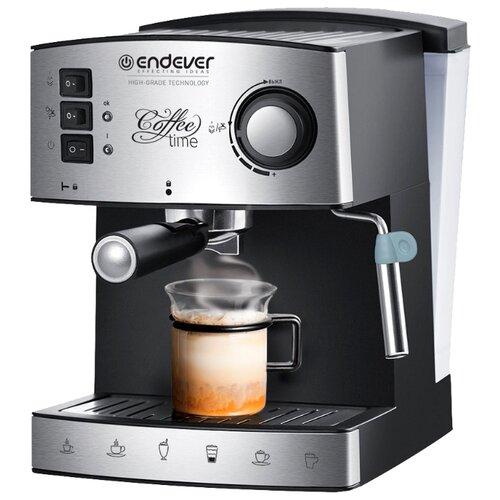 Кофеварка рожковая ENDEVER Costa-1060 черный/стальной кофеварка endever costa 1005 серебристый черный