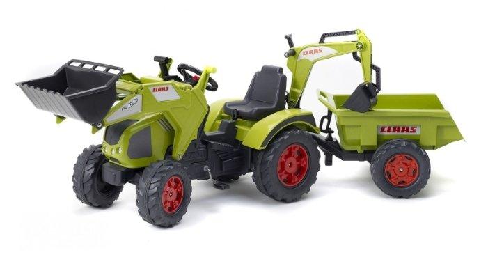 Веломобиль Falk Трактор-экскаватор с прицепом (1010Z)