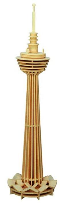 Сборная модель Мир деревянных игрушек Башня Куала Лумпур (П100),,