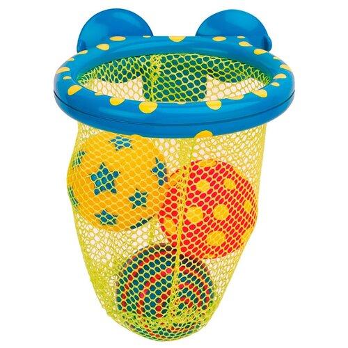 Купить Игрушка для ванной Alex Мячики в сетке (694) желтый/синий, Игрушки для ванной